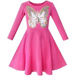KD24 Girls Dress Owl Ice Cream Butterfly Sequin Everyday Dre