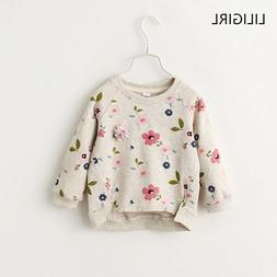 LILIGIRL Kid Winter Autumn T-shirts Clothes Children Pullove