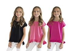 KIDIK Girls T Shirts 3Pack Coco Swing Top - M