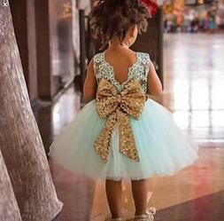 Kids Baby Girl Dresses Clothing Tops Bow Party