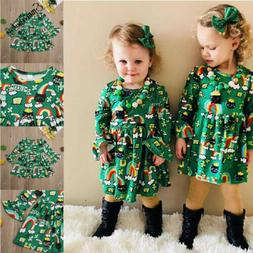 Kids Baby Girls Dress Clothes Toddler Infant Girls Clothing