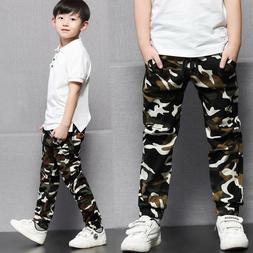Kids Boys Girls Cotton Clothing Clothes Pants Boy Camouflage