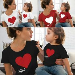 Kids Girls Boys Women Mom Daughter Son Family Matching T Shi