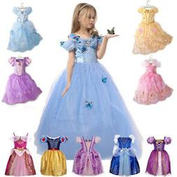 Kids Girls Costume Princess Fairytale Dress Up Belle Cindere