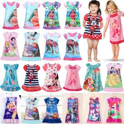 Kids Pajamas Girls Cartoon Princess Dress Child Pajamas Pjs