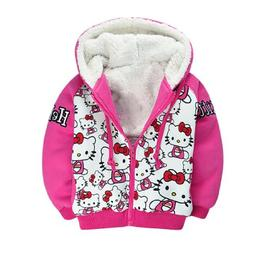 SOPO Kitty Toddler Girl Winter Jacket Coat 2-7Y Pink Kid Out