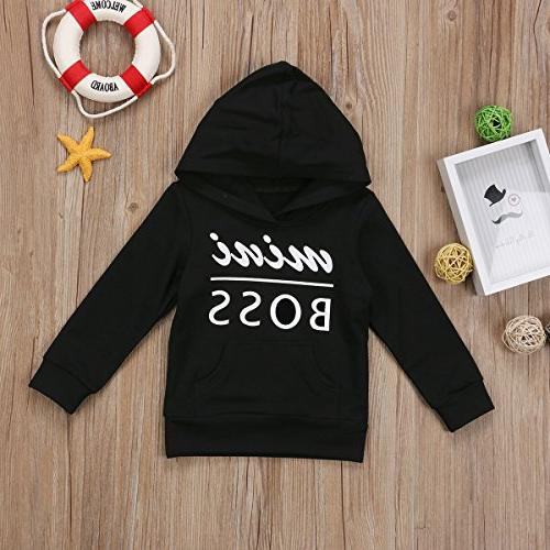 0-5T Boy Girl Mini Boss Toddler Sweater Hoodies Outfit