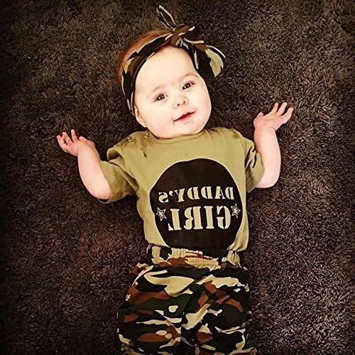 2 Styles Boy Girl Camouflage Sleeve Pants Outfit