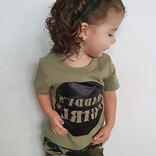 2 Styles Baby Boy Girl Sleeve T-shirt Pants Outfit Casual