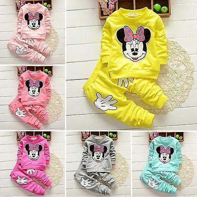 2pcs Baby Minnie Mouse Kid Outfits Tracksuit
