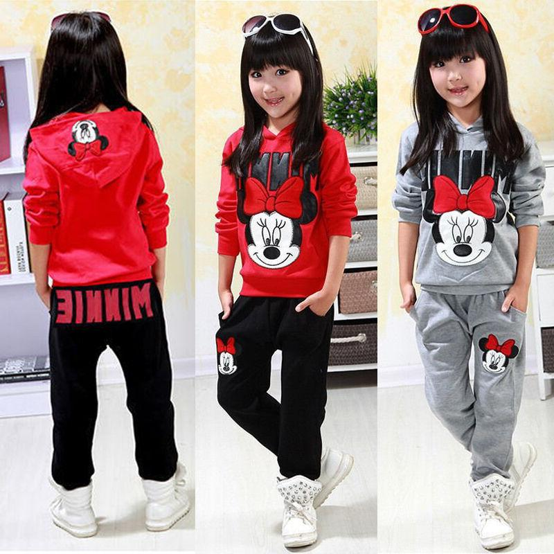 2PCS Kids Girls Minnie Tops
