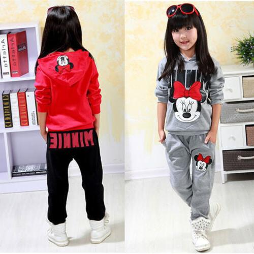 2pcs kids baby girls minnie mouse clothes