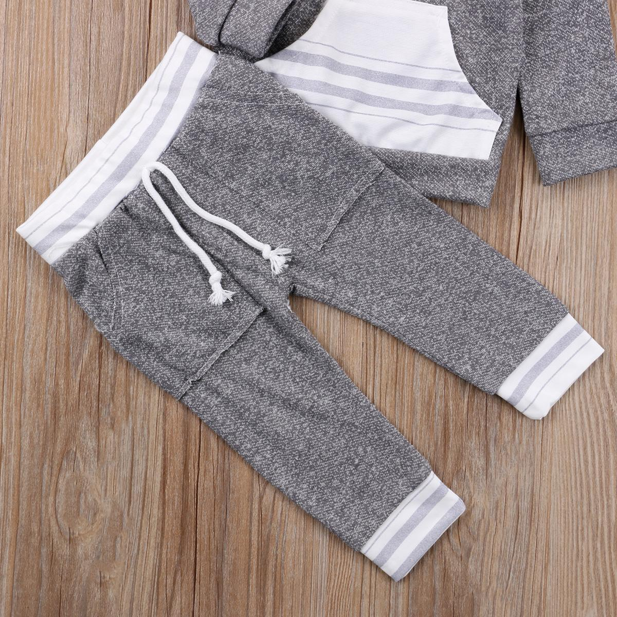 2pcs Toddler Boy <font><b>Girl</b></font> Tops Pants Outfits Clothes Casual Daily Brief
