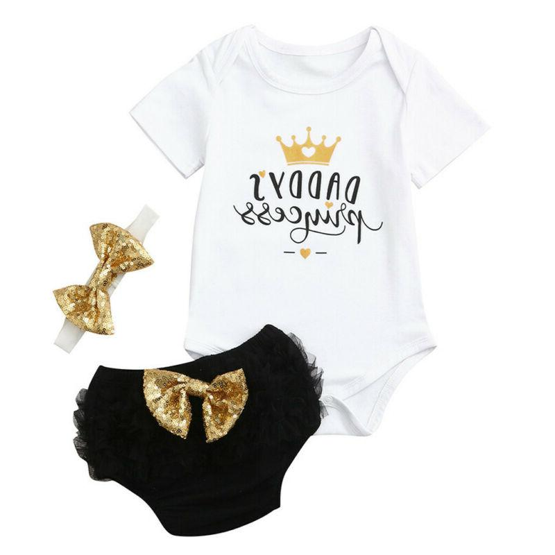 3PCS Newborn Baby Outfit Clothes Shorts US Stock
