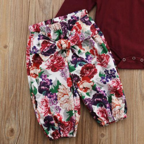 3PCS Tops Floral Headband Outfits