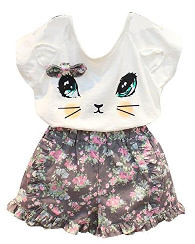 BomDeals Adorable Cute Toddler Baby Girl Clothing 2pcs Outfi