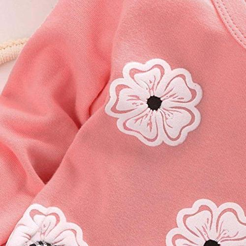 BomDeals Adorable Toddler Baby Top&Pants Flower/Pink)