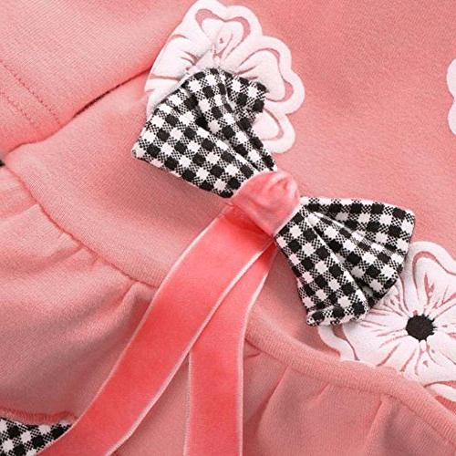 BomDeals Baby Clothing 2pcs Top&Pants Winter , Flower/Pink)