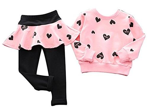 BomDeals Toddler Baby Girls Clothes Sleeve T-Shirt Outfit ,