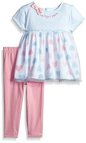 Gerber Baby Girls Tunic and Legging Set, Hearts, 12 Months