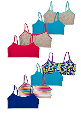 0c88b027990 Hane's Girl's Crop Top Bralette Cotton Spandex Training Bra
