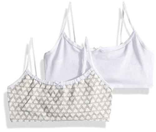 Pack of 2 Hanes Girls Crop Top Bralette