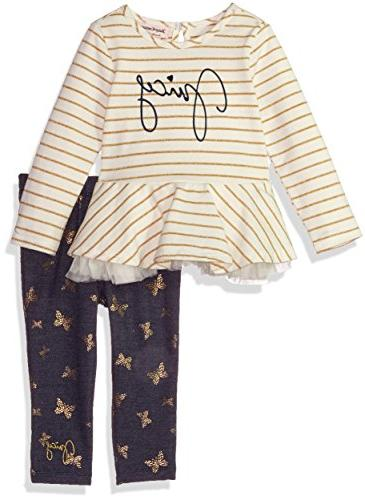 Juicy Couture Baby Girls 2 Pieces Long Sleeves Tunic Set, Va