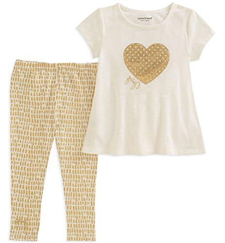 Juicy Couture Baby Girls 2 Pieces Tunic Set, Gold/Vanilla, 1