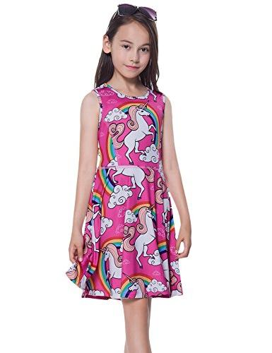 Jxstar Little Girls Dresses girls clothes 5t birthday dress vestidos 120, Unicorn, 4-5Years/Height:43in 4-5Years/Height:43in