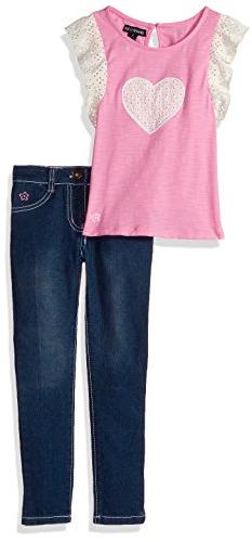 Limited Too Little Girls' Fashion Top and Pant Set , Medium