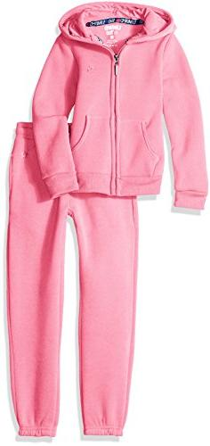 Limited Too Little Girls' Fleece Hoodie Jacket and Pant Jog