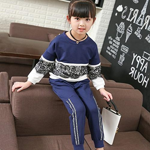 Girls' Long Sleeve Top Pants Clothes Outfit
