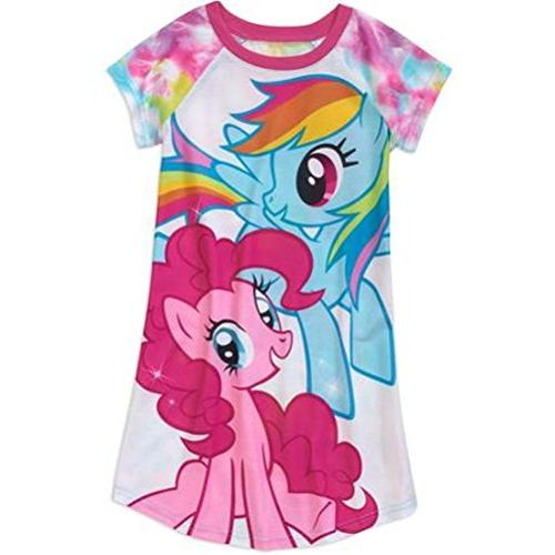 My Little Pony Girl Short Sleeve Nightgown Pajama Size 7//8