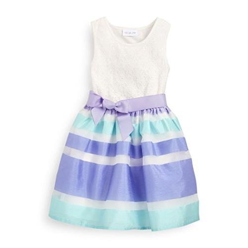 The Children's Place Big Girls' Sleeveless Dressy Dress, Pur