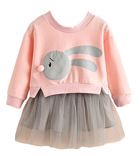 Toddler Bunny Top and Tutu Skirt, Cute Little Baby Girls Fan