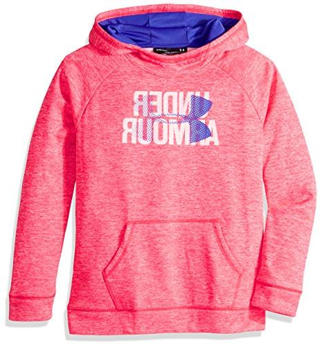 Under Armour Girls' Armour Fleece Big Logo Printed Hoodie, P