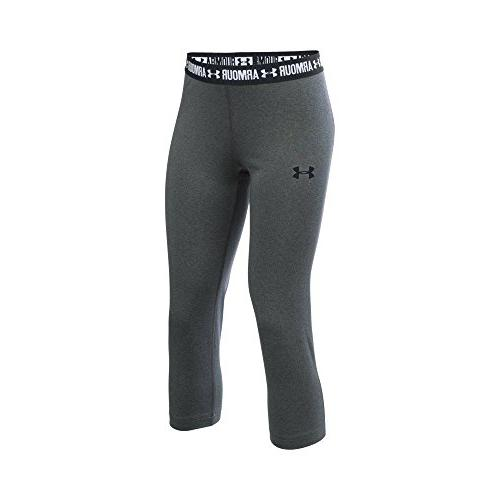 Under Armour Girls/' HeatGear Armour Heather Capris Grey