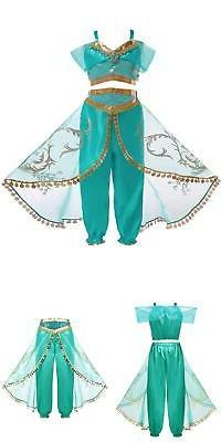 Aladdin Jasmine Princess Cosplay Baby Kid Girl Fancy Dress U
