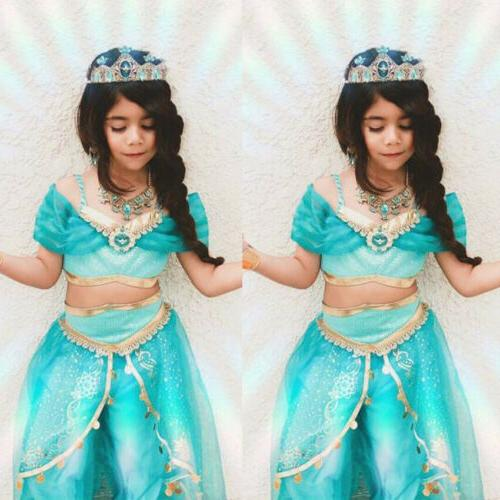 aladdin jasmine princess cosplay baby kid girl