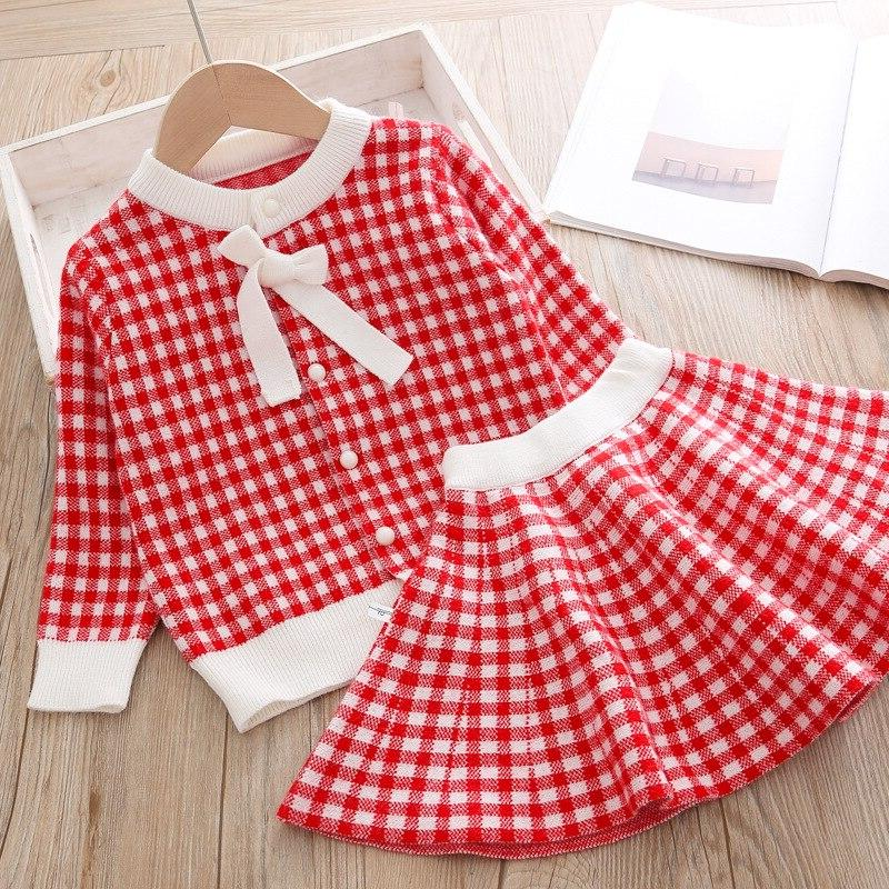 baby <font><b>Clothing</b></font> Kids 2 Cloths outfits + skirt Sweater for knitted <font><b>3T</b></font>
