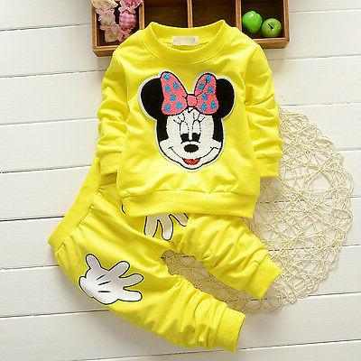 Baby Minnie Long Sleeve Pants Clothes