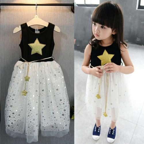 Baby Kids Flower Lace Dresses Princess Tulle