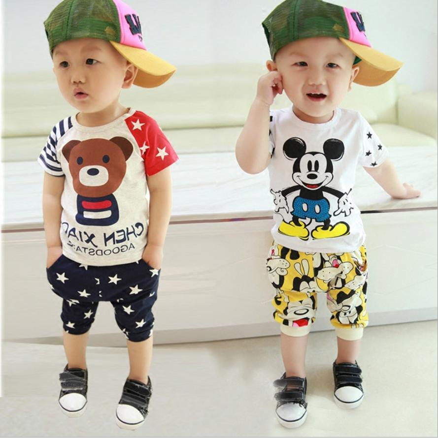Baby Kids Mickey Mouse Clothing T-Shirt Pants Cotton Boys/Girl
