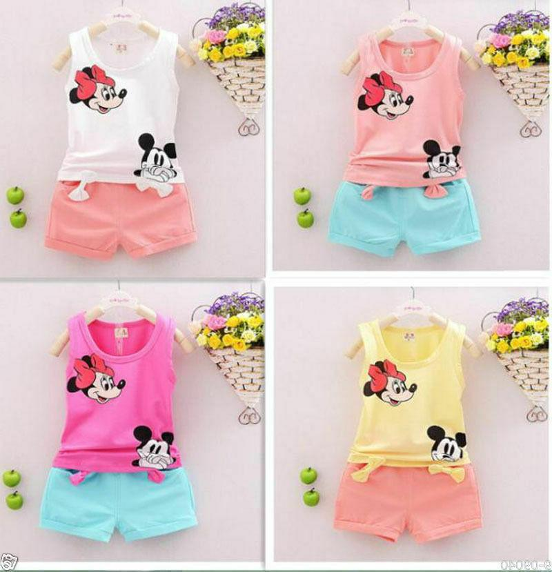 Baby Kids Mickey Clothing T-Shirt + Cotton Cartoon Boys/Girl Outfits