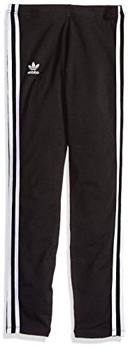 adidas Originals Girls' Big Originals 3 Stripes Leggings, Bl