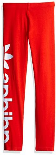 adidas Originals Bottoms Little Girls' Leggings, Core Red/Wh