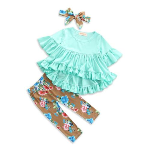 Boutique Toddler Kids Baby Girl Pants Legging Outfit Clothes US