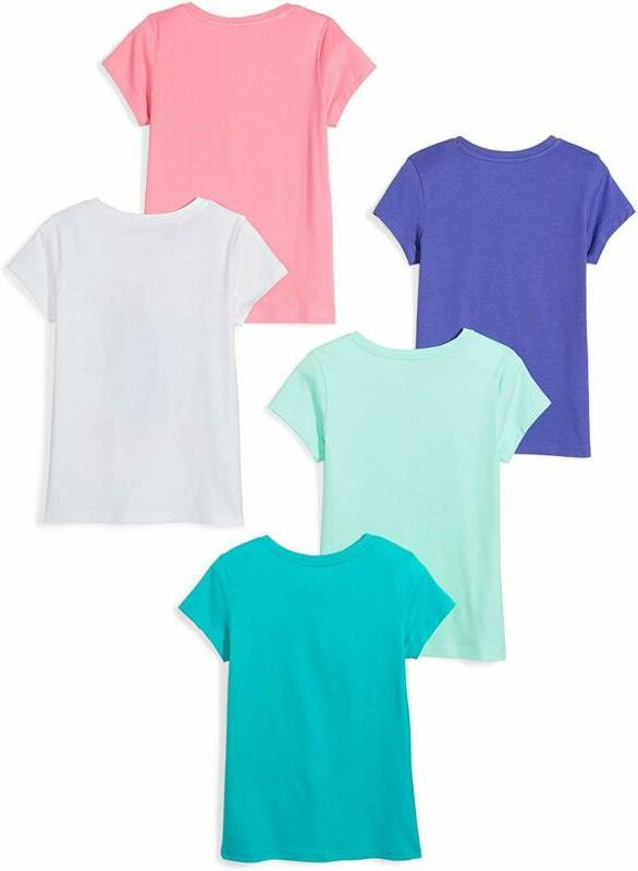 Brand - Spotted Girl'S & Kids 5-Pack T-Shirts