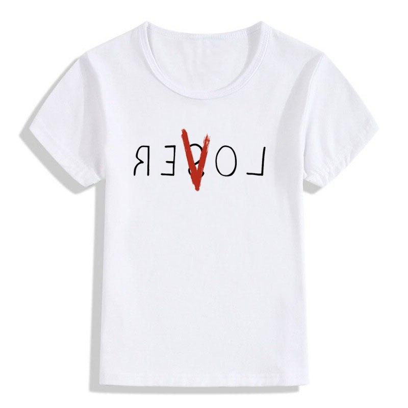 children lover and loser print t font