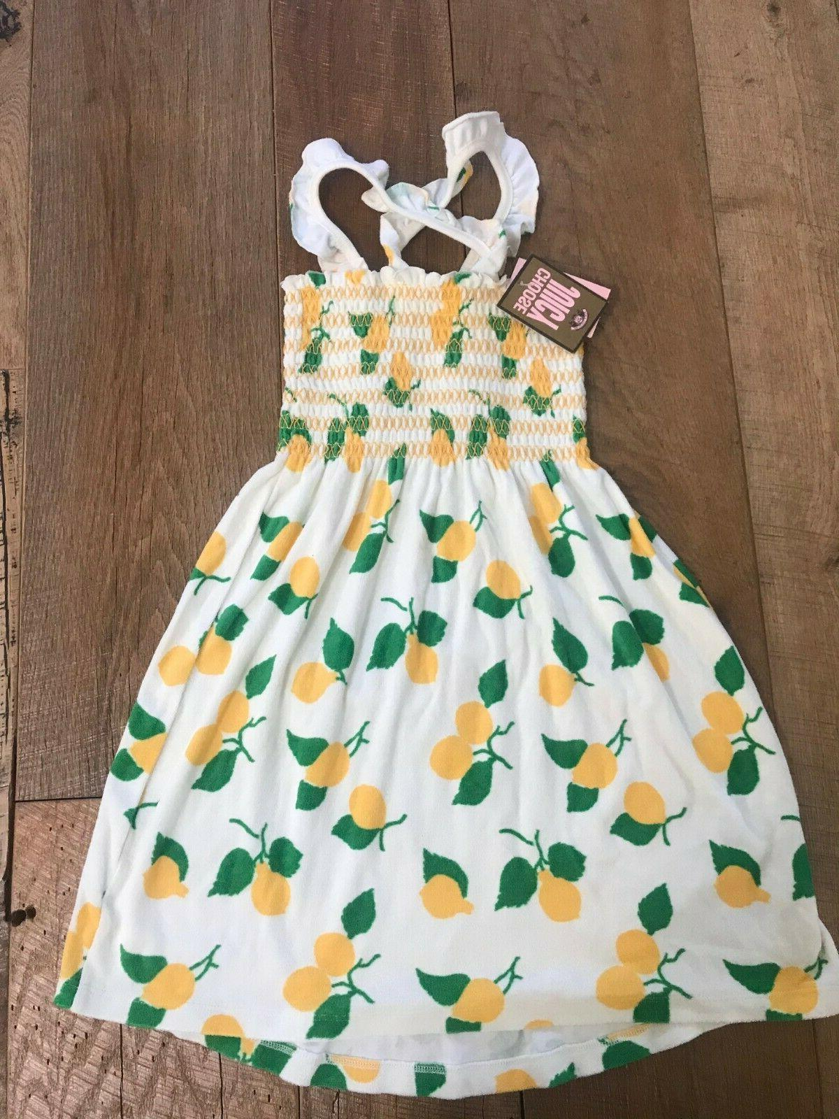 Juicy Couture Dress Marigold Lemon Terry Smocked 10